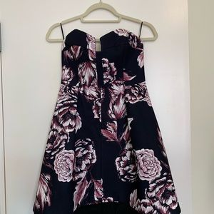Keepsake Floral Divide Mini Dress